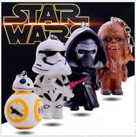 action man toys - Star Wars Starwars Toys The Force Awakens BB8 BB Droid Robot Kelo Chewbacca Pendant Action Figure PVC Keychains Key Ring