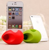 For Apple iPhone speaker for mobile phone - Hot sale Egg Audio Horn Silicone Rubber Dock Stand Holder Loud Speaker Amplifier For Apple iPhone G S C Mobile Phone No Cable Adapter