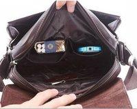 Wholesale 2015 AAA Brand Designer Men Genuine Leather Handbag Black Brown Briefcase Laptop Shoulder Bag Messenger Bag