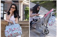 Wholesale 40PCS HHA461 Multifunctional Bolsa Maternidade Baby Diaper Bags Baby Nappy Bags Maternity Bags Lady Handbag Messenger Bags Diapering