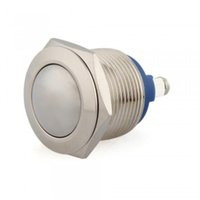 Cheap 3A 250V Momentary On Off Push Buttons Switch For Car Auto Boat Silver 19mm