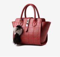 interior decor - 2016 new tide women bag Car suture buckle messenger shoulder bag popular plush decor handbag