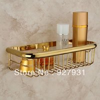 bath body basket - And Retail Wall Mounted Golden Color Bathroom Commodity Basket Rectangle Bath Body Holder