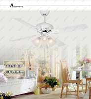 Wholesale To Brazil quot Inch Modern Simple Led Foyer Painted White Iron Fans Blades Ceiling Fans E27 Bulb
