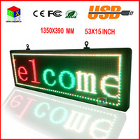 Wholesale 15X53 inch high brightness programmable scrolling LED display P10RGB color outdoor LED sign to support any language message