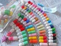Wholesale 50Pcs Message in a Bottle Message Capsule Letter Cute Love Half Color Pill
