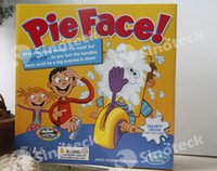 Wholesale Korea Running Man Pie Face Game Pie Face Cream On Her Face Hit The Send Machine Paternity Toy Rocket Catapult Game Consoles Free DHL