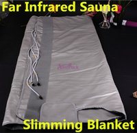portable infrared sauna - Portable zone FIR Far Infrared Sauna Blanket body slimming blanket heating therapy Weight Loss machine