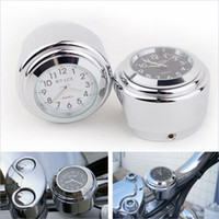 Wholesale 7 quot quot Motorcycle Clock Silver Dial Handlebar Clock for Harley Glide Cruiser FL Motorcycle tachometer K2187