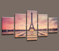 Wholesale Wall Art Canvas Painting of Paris Eiffel Tower Wall Picture Decorative Print from Photo on Canvas for Home Decoration Modern Art