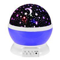 projector lamp bulb - Hot USB Laser LED Projector Romantic Rotary Sky Stars Cosmos Star Projector Lamp Cosmos Moon Stars Rotating Round Night Light Lamp