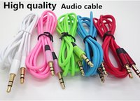 Wholesale 3 mm Audio Cable Male To Male Stereo Car Extension Audio Cables Aux Audio For MP3 Headset Computer Tablet Iphone Ipod Samsung Mobile Phone