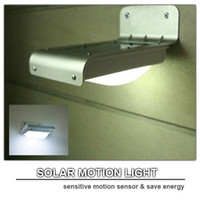 Wholesale solar motion light PIR solar powered outdoor light motion detection solar panel LED energy saving lamp waterproof