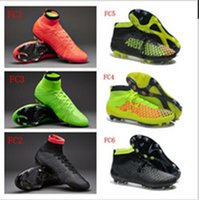 Wholesale 12 colors Soccer Shoes Magista Obra FG Cheap Football Shoes top Soccer Cleats TPU Football Boots Outdoors Ball Sports Shoes Hi Cut Athletics