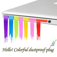 Wholesale 8 Color Computer Accessories Silicone Soft Anti Dust Port Plugs for Macbook Air Laptop Notebook Dustproof Stopper