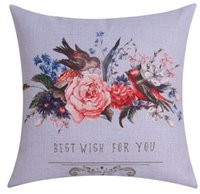 best office chairs - best wish flower and bird cushion cover purple home decor beautiful office chair funda cojin cojines