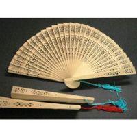 Wholesale IMC Classic Elegant Fragrant Sandalwood Hand Fan Wooden Scented Wedding Gift order lt no track