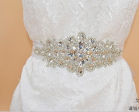 Wholesale Glaring Crystal Wedding Bridal Sash and Belt Adorned with Rhinestones SL10 Fashion Wedding Accessories Girls Party Accessories Free Shiping