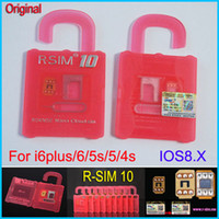 Wholesale Original Official R SIM RSIM RSIM10 R SIM10 SIM Unlock Card for iphone6 plus S S GSM CDMA IOS x ios x