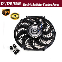 Wholesale 2015 size inch V W Slim Reversible Electric Radiator Cooling Fan Push Pull Easy Install New order lt no track
