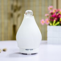 air freshers - 100ml Polystone Ultrasonic Air Humidifier Essential Oil Aroma Diffuser Fragrance Sprayer Air Fresher Colorful LED Light air purifier H15753