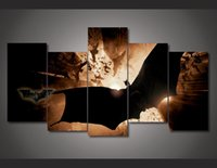 Cheap 5Pcs With Framed Printed betmen nachalo batman begins Painting on canvas room decoration print poster picture canvas metal wall art decor