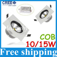 bathroom fixtures brands - Brand New COB W W Led Square Downlights Recessed Lights Lumens Warm Cool White Dimmable Led Fixture Ceiling Lights V