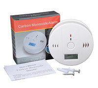 alarm products - LCD CO Carbon Monoxide Poisoning Sensor alarm Smoke Gas Sensor Warning Alarm Detector Monitor Alarm Detector White Kitchen Product