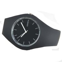 ice watches - SY Fashion Ice cream color Ultra thin fashion gift silicone watch Geneva silicone Wristwatch