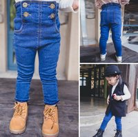 jeans lot - New Arrival Childrens Girls Winter Fashionable Jeans Pants Kids Boy And Girls Leisure Add Plush Warm Pants
