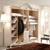 bedroom wardrobe armoires - The five door storage Paphia Armoire Wardrobe closet wardrobe style KT115