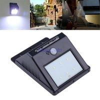Wholesale New arrival Solar LED PIR Motion Sensor HOME Garden Yard Street Light Lamp Waterproof Energy saving Wall lights