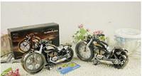 antique motorbike - Lowest price Hot Sell Motorcycle Alarm Clock Desk Clock Motorbike Clock ABS Material Random color