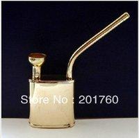 Cheap Copper pipe tobacco dual copper water smoking pipe hookah 10pcs lot free shipping T-3