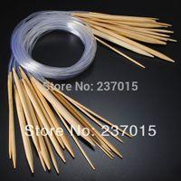 Wholesale Set Smooth Circular Bamboo Knit Knitting Needle Pins Set mm mm Size