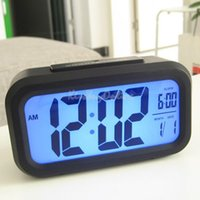 Wholesale Hot Sale Digital Snooze Electronic Alarm Clock Despertador Watches with LED Backlight Light Calendar Control PTSP for