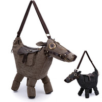 Wholesale New Handbag canvas Donkey Horse Shape Shoulder Bag With Saddle Can be as a Pillow or home decoration Tote Bag Messenger Bag