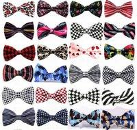 Wholesale 100PCS LJJG2 Unisex Neck Bowtie Bow Tie Adjustable Bow Tie high quality metal adjustment buckles multi style