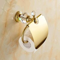 Wholesale bathroom paper holder with gold color finishing brand new Toilet Paper Holders