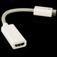 Wholesale New Mini DVI Male to HDMI Female Cable Adapter Convertor for Macbook iMac F2979 W0