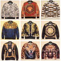 Wholesale 2015 New Winter Women Men Space print Galaxy hoodies Sweaters Pullovers panda tiger cat animal D Sweatshirt Tops K1