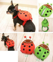 Wholesale Cute Coccinella Septempunctata Pet Clothes Traveling Dog Bag Dog Carrier Tote Bag Puppy Backpack Harness PC