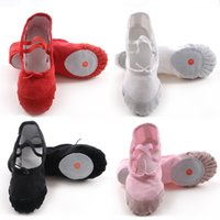 Wholesale 5pair Women Children Girl Dance Shoes Kids Canvas Ballet Shoes Red Black White Pink Colors Size ballet Shoes For Girls