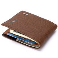 Wholesale Multifunction PU Leather Mens Wallet Elegant Wood Grain Card Holder Coin Purse Luxury Brand Designer Wallets Fashion Purse For Men