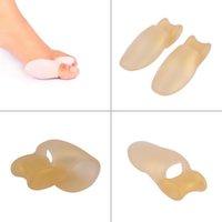 Wholesale 1 pair pedicure foot care Silicone Sub Toe Thumb Hallux Valgus Corrector Straightener Braces plantillas para los pies pedicura