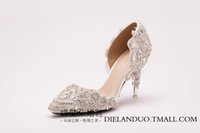 paintings mary - Hot luxury fashion rhinestone pearl crystal shoes custom size heels bride wedding party party women shoes