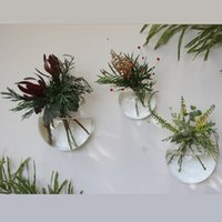 Wholesale 3PCS Glass Air Plants Wall Bubble Terrarium fighting fish tank for home decoration