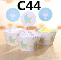 baby carriage cakes - Party Decorations Event Cupcake Wrappers Baby carriage fishing Cup Cake Toppers Picks Kids Birthday Supplies Party Favors H0278