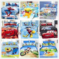 bedding set cars - Boys Sports car cartoon D bedding set Christmas gifts twin bed linens Football Mickey mouse duvet cover sheet pillow case