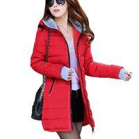 long down coat - Winter Coat Women New Women Winter Jacket For Women Hooded Long Section Down Coat Slim Waist Thick Parkas Outwear
